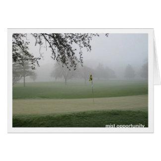 Cartão Oportunidade Notecard da névoa dos jogadores de