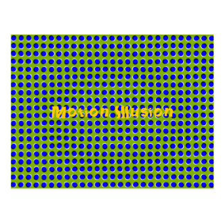 Cartão óptico da ilusão do movimento