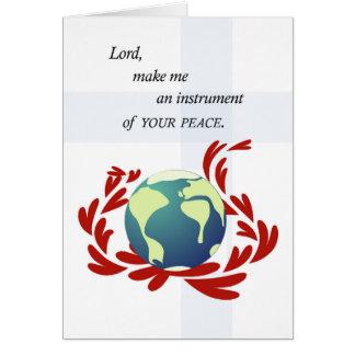 Cartão Oração da paz de St Francis
