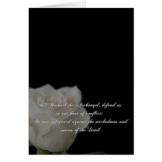 Cartão Oração de St Michael