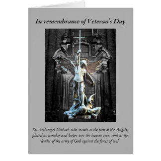 Cartão Oração do dia de veterano