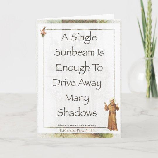 Cartão ORAÇÃO do raio de sol de Francisco de Assis do   Zazzle.com.br 3929aad6c2