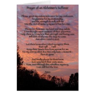 Cartão Oração do sofredor de Alzheimer