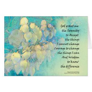Cartão Oração Manzanita da serenidade