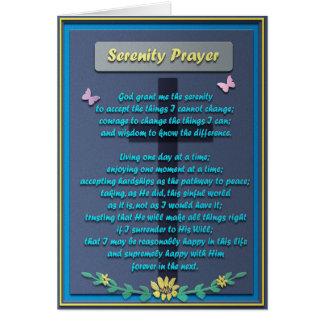 Cartão Oração memorável da serenidade