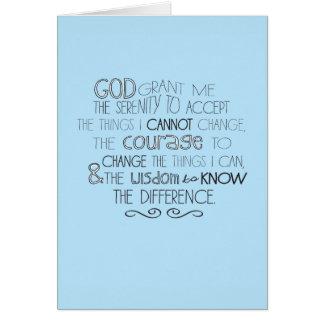 Cartão Oração Notecards da serenidade
