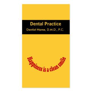 Cartão oral da nomeação do cuidado do dentista cartão de visita