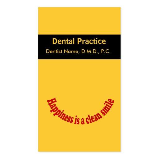 Cartão oral da nomeação do cuidado do dentista modelos cartões de visitas