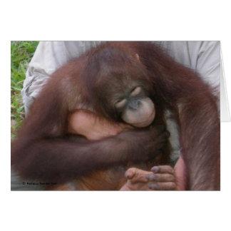 Cartão Orangotango cego do bebê que supera inabilidades