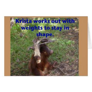 Cartão Orangotango engraçado de Krista