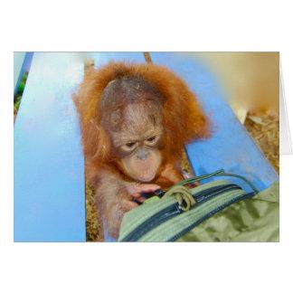 Cartão Orangotango Snoopy do bebê