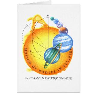 Cartão Órbitas elípticas de Newton