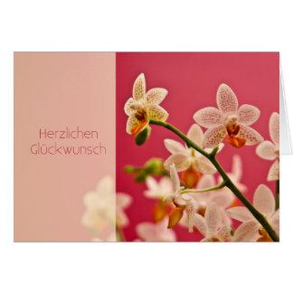Cartão Orchidee • Geburtstagskarte