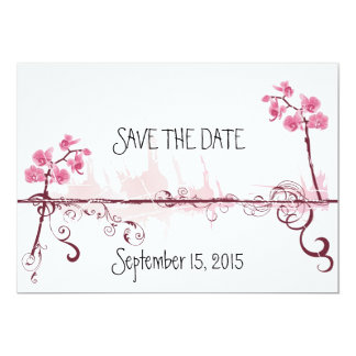 Cartão Orchids Wedding Save the Date Card