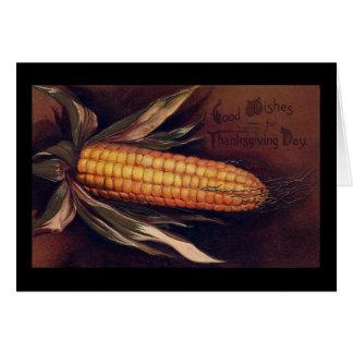 Cartão Orelha do vintage da acção de graças do milho