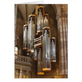 Cartão Órgão da catedral de Freiburg
