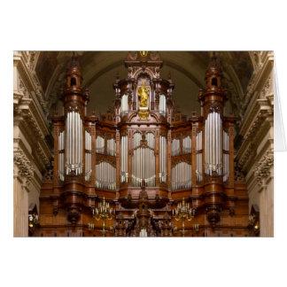 Cartão Órgão de tubulação da catedral, Berlim