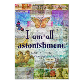 Cartão Orgulho de Jane Austen e citações do preconceito
