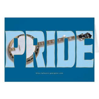 Cartão Orgulho do banjo