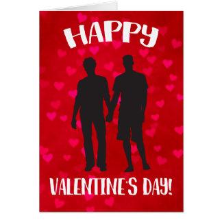 Cartão Orgulho do feliz dia dos namorados LGBT