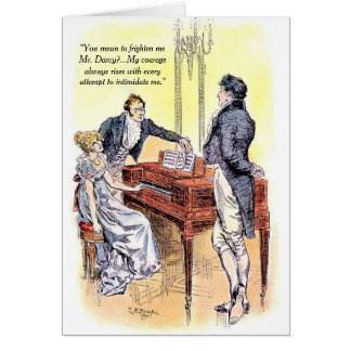 Cartão Orgulho do Sr. Darcy de Jane Austen e coragem do
