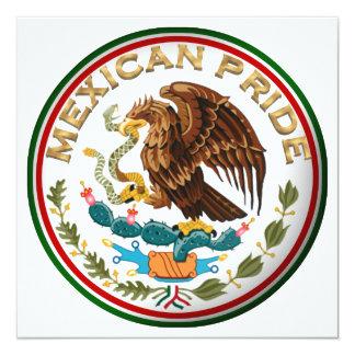 Cartão Orgulho mexicano (Eagle da bandeira mexicana)