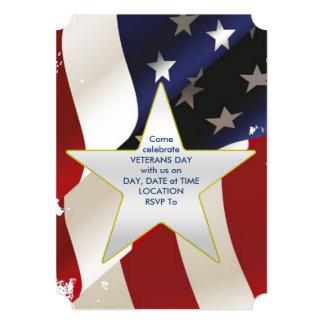 Cartão Orgulhosa o partido do dia de veteranos da onda
