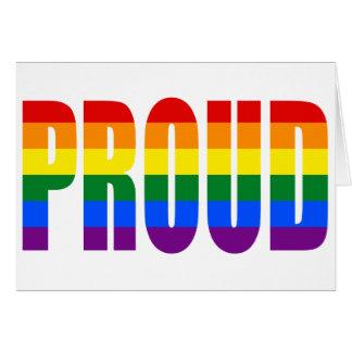 Cartão ORGULHOSO (arco-íris)