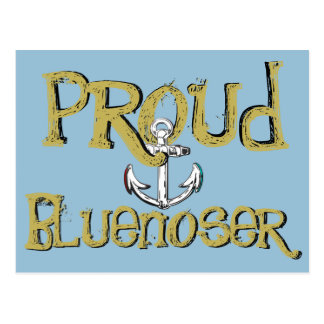 Cartão orgulhoso da âncora de Bluenoser Nova