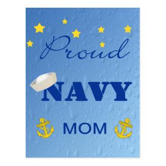 Cartão orgulhoso da mamã do marinho