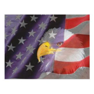 Cartão orgulhoso e patriótico da águia americana