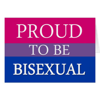 Cartão Orgulhoso ser bissexual
