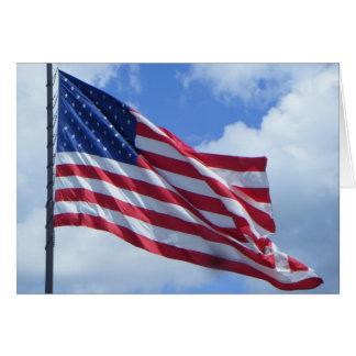 Cartão Orgulhoso ser um americano
