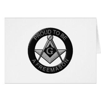 Cartão Orgulhoso ser um Freemason