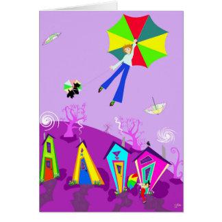 """Cartão original da arte de Digitas, """"no vento """""""