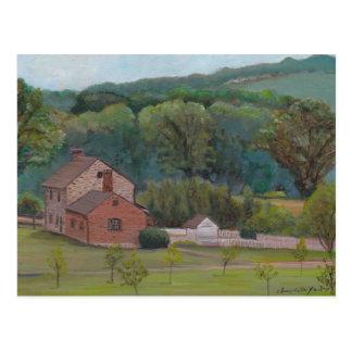 Cartão original da arte de Gettysburg da fazenda