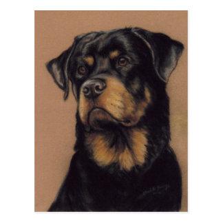 Cartão original da arte de Rottweiler