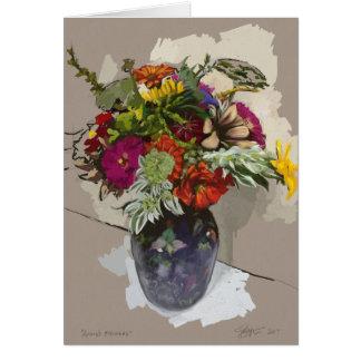 Cartão original da flor das belas artes (vazio