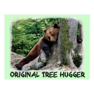 Cartão original do urso de Hugger Brown da árvore