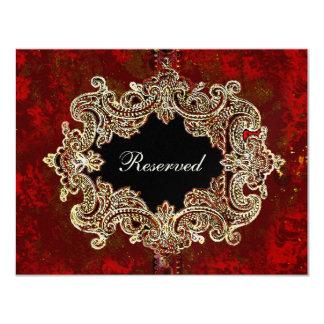 Cartão ornamentado do assento da mesa do partido convite 10.79 x 13.97cm