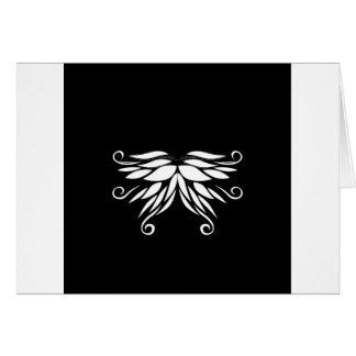 Cartão Ornamento brancos pretos do Nordic de Sibéria