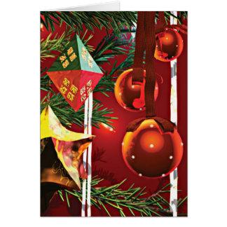 Cartão Ornamento da árvore de Natal