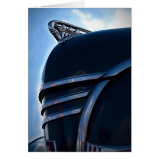 Cartão Ornamento da capa do carro vintage