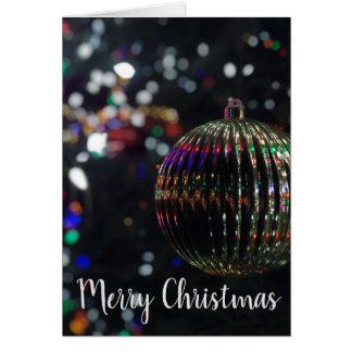 Cartão Ornamento de prata do Natal