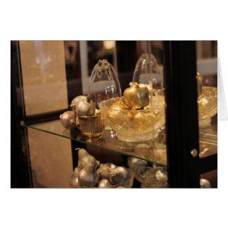 Cartão Ornamento de vidro