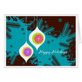 Cartão Ornamento do feriado do metro