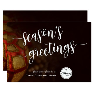 Cartão Ornamento do feriado, os cumprimentos da estação