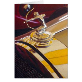 Cartão Ornamento do radiador do arqueiro da Pierce-Seta