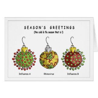 Cartão Ornamento do vírus