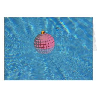 Cartão Ornamento do Xmas do Palm Springs na piscina